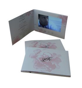 7 Inch LCD Video Electronic Wedding Invitation Card pictures & photos