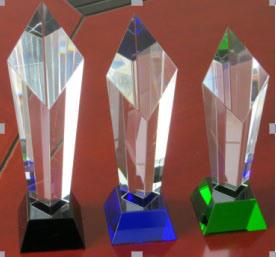 Crystal Diamond Tower Award-Green Base pictures & photos