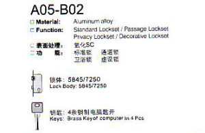 A05-B02 Aluminium Alloy Door Loc Series pictures & photos