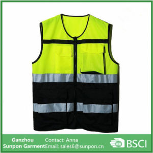 Cycling Reflective Vest Safety Reflective Jacket Yellow and Orange pictures & photos