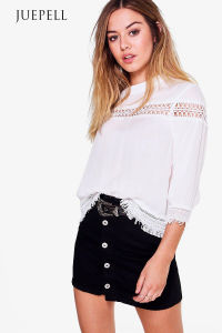 Fashion Lace Loose Beach Women Blouse pictures & photos