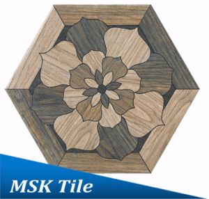 200X230 Porcelain Wood-Look Hexagon Tile Kl-07-Y3 pictures & photos