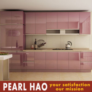 2017 Australia Style High Gloss Lacquer Wood Kitchen Cabinets pictures & photos