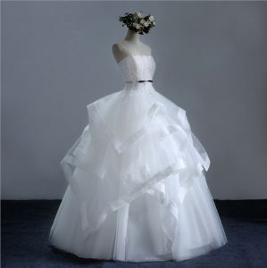 2017 Princess Frills Satin Tulle Sweetheart Bridal Wedding Dress (Dream-100037) pictures & photos