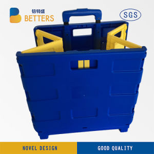 Betters Yellow & Blue Folidng Shopping Trolley pictures & photos