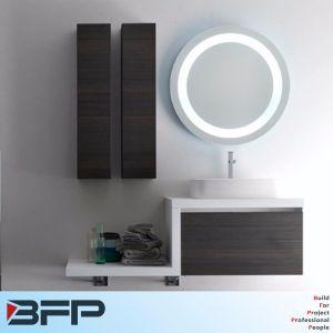 Overmount Basin Light Round Mirro Bathroom Cabinet pictures & photos