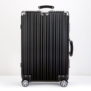 Rose Gold Luggage Hard Side Double Spinner Luggage Set pictures & photos