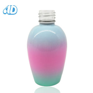 Colorful Oval Pet Nail Polish Glass Bottle 15ml pictures & photos