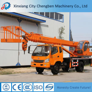 Widely Used Mini Pickup Truck Lift Crane with Basket pictures & photos