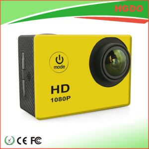 Black Color Mini Waterproof Sport Camera Full HD 1080P