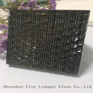 10mm+Silk+5mm Black-Mirror Glass Customized Art Glass for Decoration pictures & photos