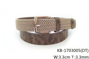 New Fashion Men PU Woven Belt (KB-1703005) pictures & photos
