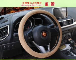 Cheap Low Cost Linen Car Steering Wheel Cover Sleeve Accessories pictures & photos