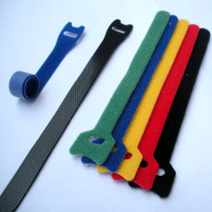 Custom Logo Nylon Hook and Loop Cable Tie pictures & photos