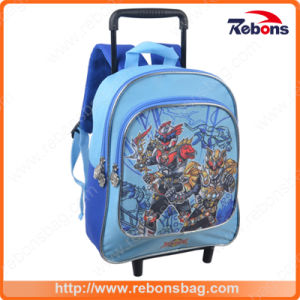 New Series Style Interlayer Rolling Trolley School Bag with Wheels pictures & photos