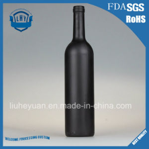 Black Matte Red Wine Glass Bottle 750ml