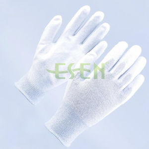 PU Coated Nylon Glove, Carbon Fiber Anti Static Gloves pictures & photos