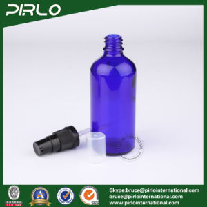 100ml Cobalt Glass Spray Bottles with Black Lotion Pump Sprayer pictures & photos
