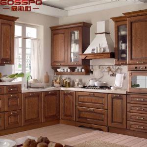 Austrialia Antique Furniture Solid Oak Wood Kitchen Cabinet (GSP10-004) pictures & photos
