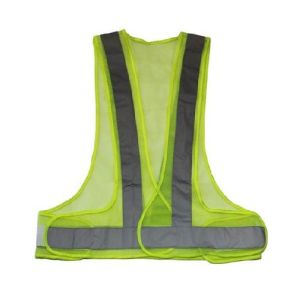 High Visual 100% Polyester Reflective Traffic Mesh Fabric Safety Vest pictures & photos