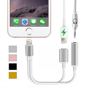 2 in 1 for iPhone7&Plus to 3.5mm Headphone Jack Adapter Charge USB Cable pictures & photos