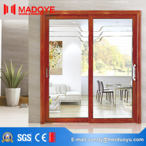 European Classic Style Cheap Price Glass Sliding Door with Pattern pictures & photos