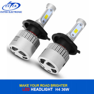 Plug and Play Auto LED Headlight 36W 4000lm COB / Csp S2 LED Headlight H4 H11 H7 H3 H1 6500K pictures & photos