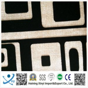 Latest Design Fabric Upholstery, Cheap Textile Flock Sofa Upholstery Fabric, Cushion Cover Fabric pictures & photos