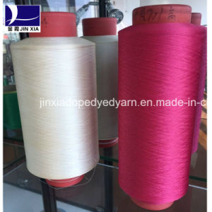 400d/288f Polyester Filament Yarn DTY Dope Dyed Textured Yarn pictures & photos