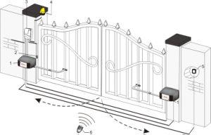 Swing Door Opener Articulated Arm AC Swing Gate Opener pictures & photos