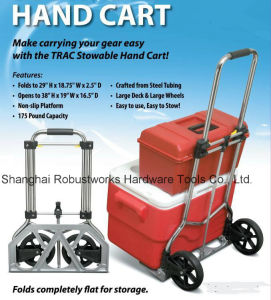 Foldable Chrome-Plated Hand Trolley (HT121A-1) pictures & photos
