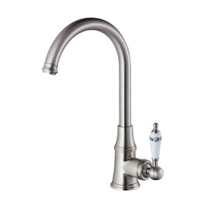FLG Nickel Brushed Deck Mount Kitchen Water Faucet Mixer pictures & photos