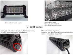 Dual Row 180W 32inch Spot/Flood/Combo CREE LED Light Bar (GT3801-180W) pictures & photos
