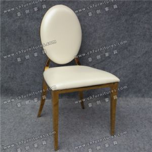 Leather Gold Stainless Steel Chair Furniture (YCX-SS26-03) pictures & photos