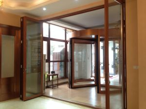 Aluminum Bifold Door with Double Glazing pictures & photos