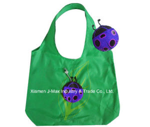 Foldable Shopping Promotional Bag with 3D Pouch, Animal Ladybird Style, Reusable, Lightweight, Grocery Bags and Handy, Gifts, Tote pictures & photos