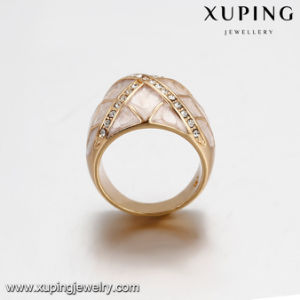 14386 Fashion Jewelry Gold Plated Round Rhinestone Ring for Women pictures & photos