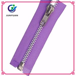 Metal Zipper for Plastic Bag Shiny Silver pictures & photos
