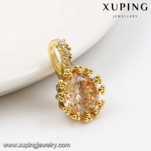 31835-14k Gold Jewelry Wholesale Latest Designs Single Stone Pendants pictures & photos
