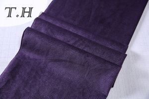 2017 Purple Delicate Burnout Velvet Fabric for Sofa (FTX37307) pictures & photos