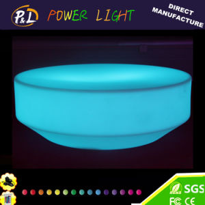 Waterproof Garden LED Lighted Plastic Round Table LED Coffee Table pictures & photos