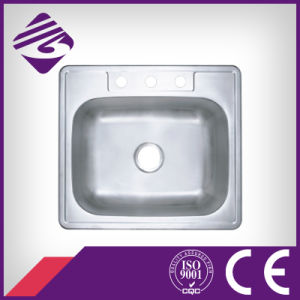 Jnm92s525 High Quality Square Stainless Steel 304 Natural Kitchen Water Sink