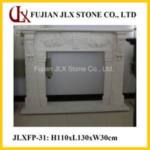 Hot Selling White Marble Sandstone Fireplace for Home Decor pictures & photos