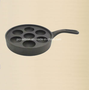 4PCS Cast Iron Cake Mold with Handle Preseaseoned Coating pictures & photos