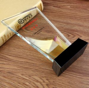High Quality Crystal Glass Trophy for Business Gift pictures & photos
