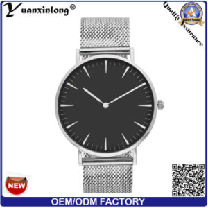 Yxl-297 Fashion Hot Sale Wholesale Watches Men Mesh Strap Steel Japan Movt Custom Factory Wrist Watch Mens pictures & photos
