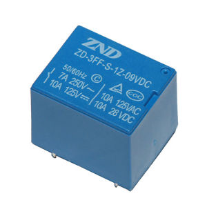 3FF (T73) Electromagnetic Power Relay Subminiature Size 7A 9V pictures & photos