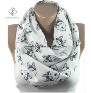 Europe Fiber Puppy Printed Neck Warmers Fashion Scarf Factory pictures & photos