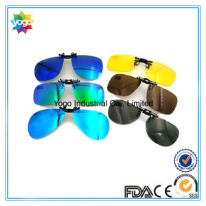 Folding Clip on Sunglasses with Case pictures & photos