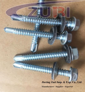 Hexagon Washer Head Self Drilling Screw with EPDM Washer pictures & photos